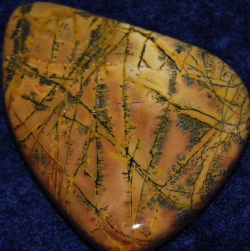 Yellow Feather Jasper Palm Stone #10