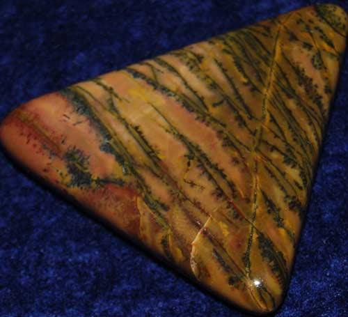 Yellow Feather Jasper Palm Stone #6