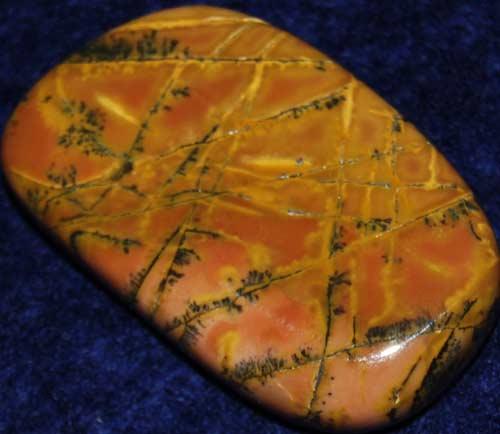 Yellow Feather Jasper Palm Stone #9
