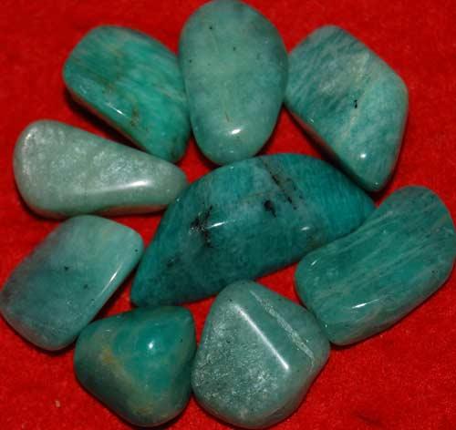 9 Amazonite Tumbled Stones #16
