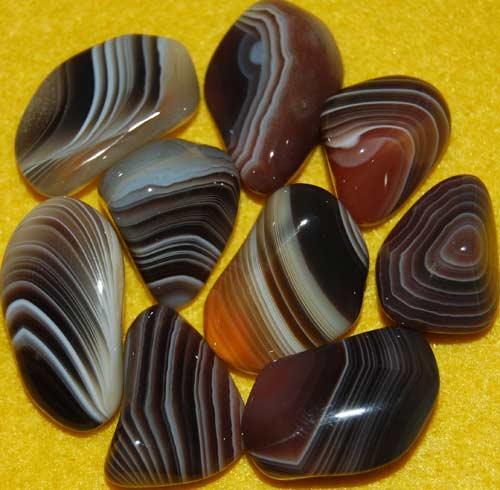 9 Botswana Agate Tumbled Stones #12
