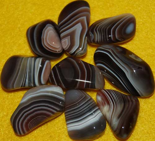 9 Botswana Agate Tumbled Stones #13