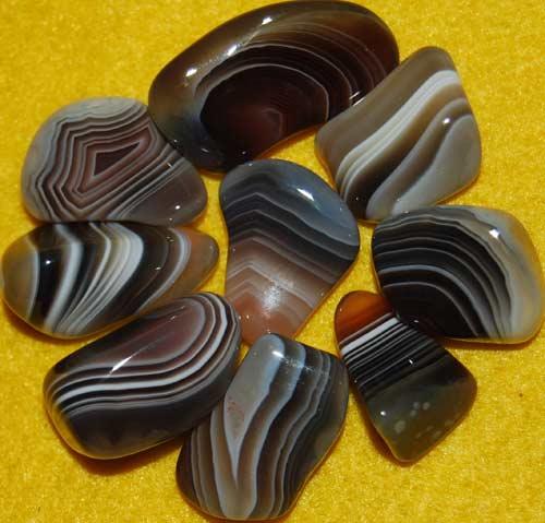 9 Botswana Agate Tumbled Stones #14