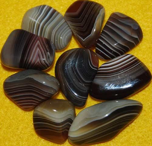 9 Botswana Agate Tumbled Stones #15