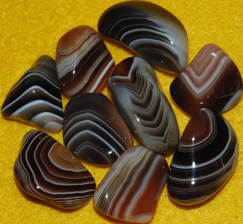 9 Botswana Agate Tumbled Stones #7