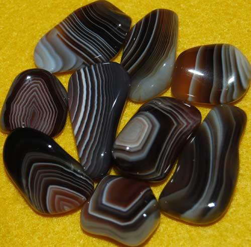 9 Botswana Agate Tumbled Stones #8