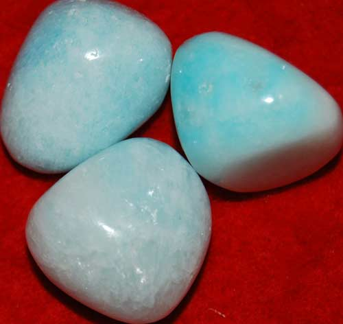 Three Blue Aragonite Tumbled Stones #4
