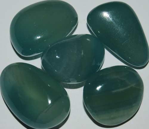 Five Blue Calcite Tumbled Stones #28