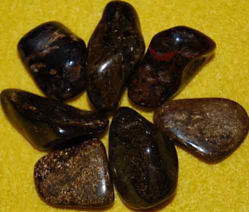 7 Bronzite Tumbled Stones #4