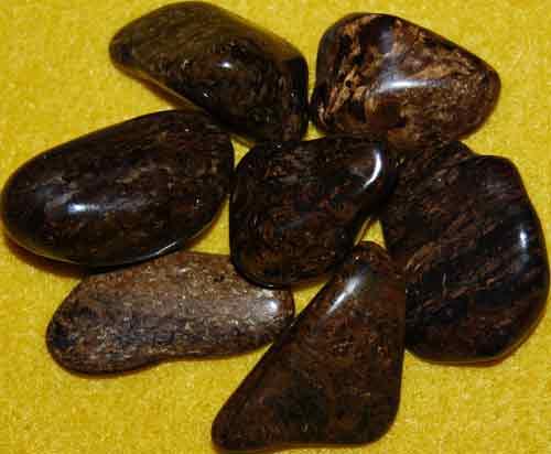 7 Bronzite Tumbled Stones #9