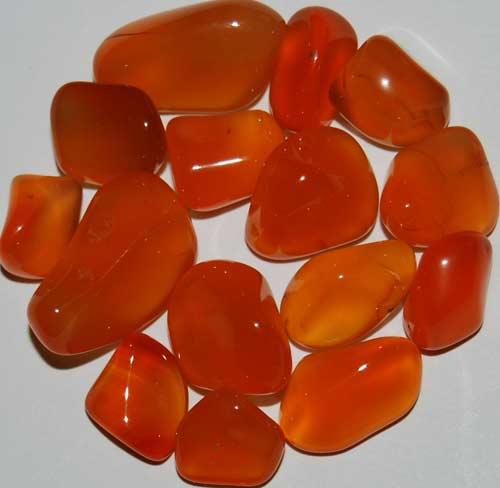 15 Carnelian Tumbled Stones #5