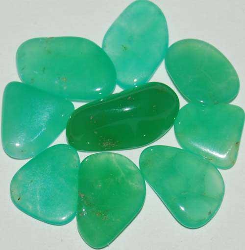 9 Chrysoprase Tumbled Stones #3
