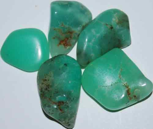 5 Chrysoprase Tumbled Stones #8