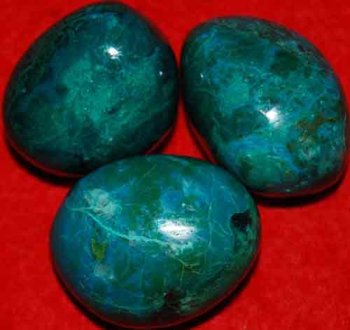 3 Chrysocolla Tumbled Stones #13