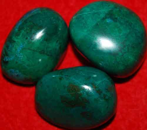 3 Chrysocolla Tumbled Stones #15