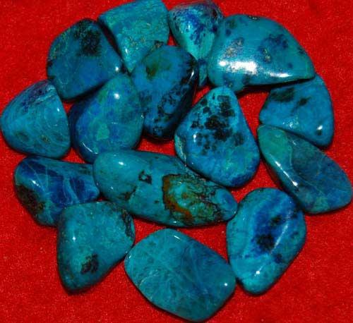 15 Chrysocolla Tumbled Stones #7