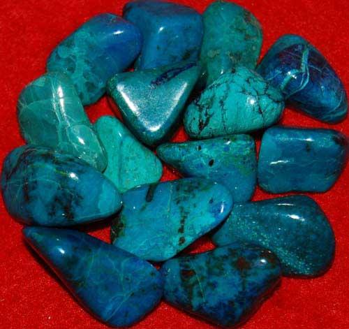 15 Chrysocolla Tumbled Stones #8