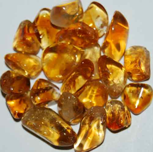 21 Citrine (heat-treated Amethyst) Tumbled Stones #2