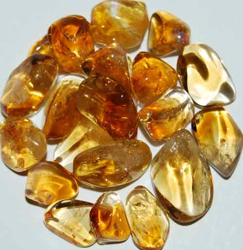 21 Citrine (heat-treated Amethyst) Tumbled Stones #8