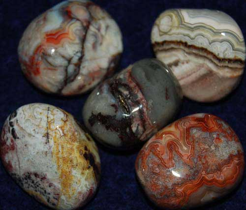 Five Crazy Lace Agate Tumbled Stones #3