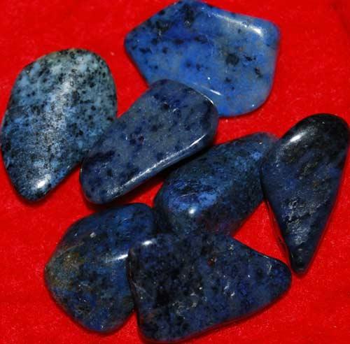 Seven Dumortierite Tumbled Stones #9