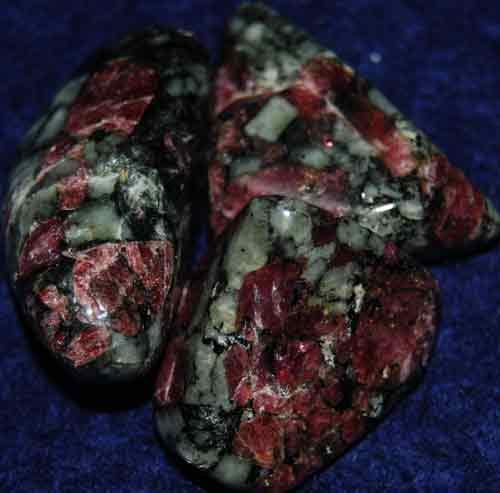 3 Eudialyte Tumbled Stones #11