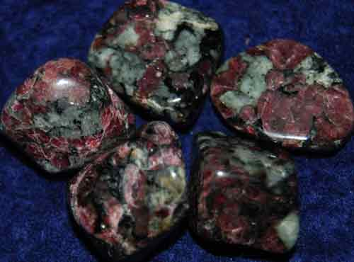 5 Eudialyte Tumbled Stones #1