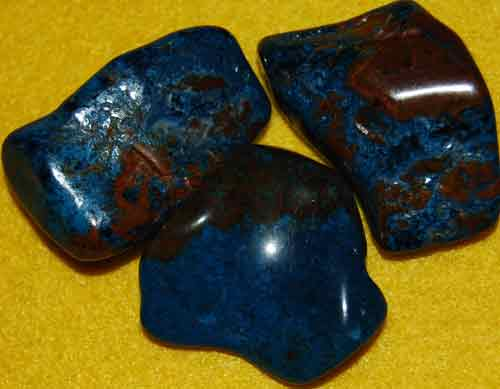 3 Fancy Shattuckite Tumbled Stones #14