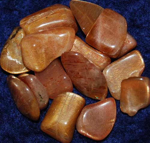 Fifteen Golden Feldspar Tumbled Stones #10