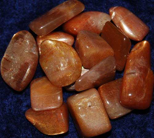 Fifteen Golden Feldspar Tumbled Stones #9