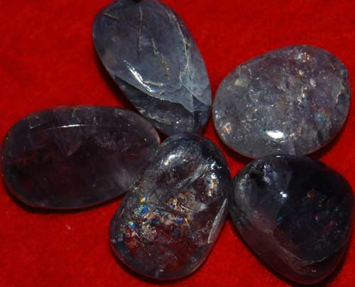 Five Iolite Tumbled Stones #6