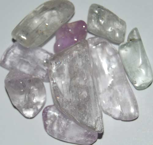 Nine Kunzite Tumbled Stones #5