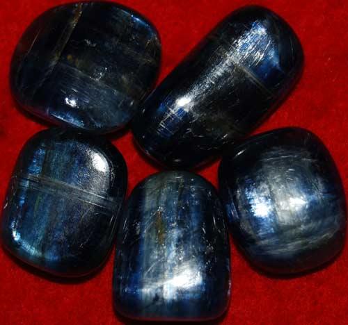 Five Kyanite Tumbled Stones #8