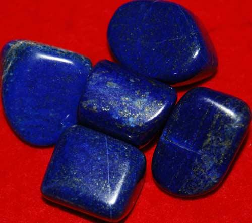 Five Lapis Lazuli Tumbled Stones #12