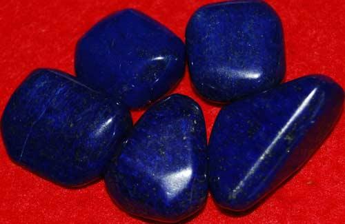 Five Lapis Lazuli Tumbled Stones #2