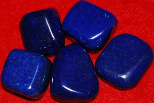 Five Lapis Lazuli Tumbled Stones #3