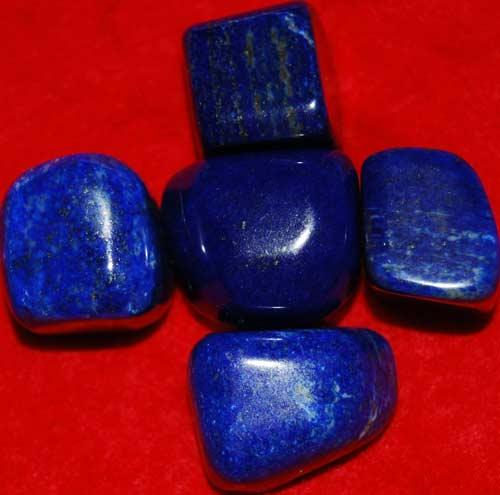 Five Lapis Lazuli Tumbled Stones #7