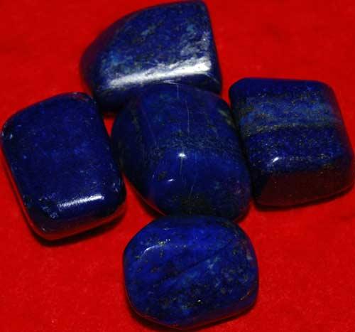 Five Lapis Lazuli Tumbled Stones #9