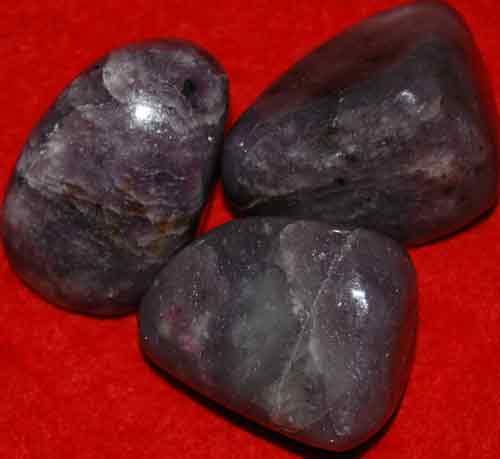 3 Lepidolite Tumbled Stones #4