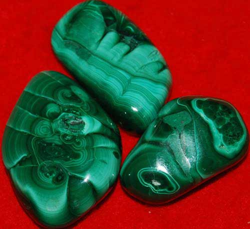 3 Malachite Tumbled Stones #2
