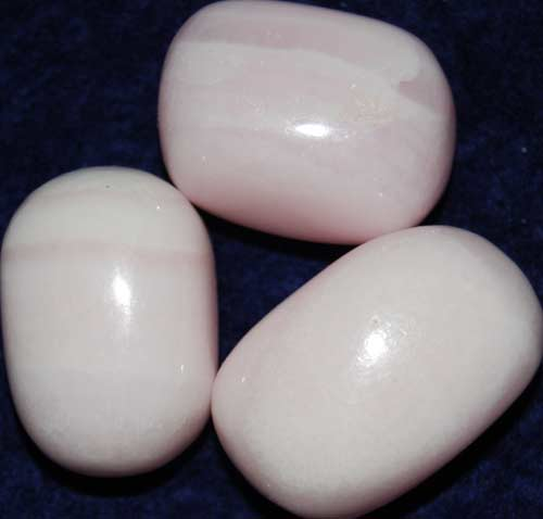 Three Manganoan (Pink) Calcite Tumbled Stones #7