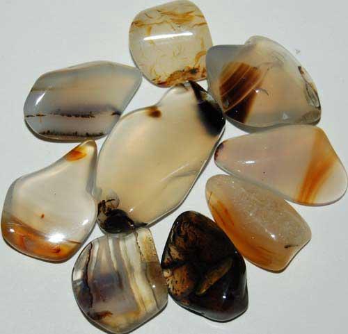 9 Montana Agate Tumbled Stones #3