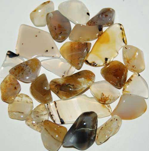 25 Montana Agate Tumbled Stones #6