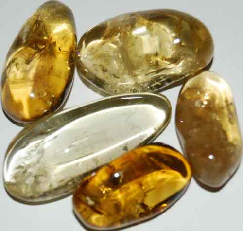 Five Natural Citrine Tumbled Stones #5