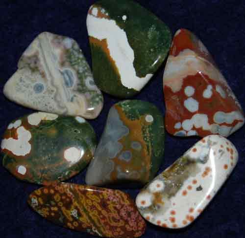 7 Ocean Jasper Tumbled Stones #10