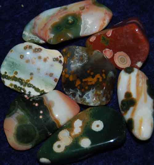 7 Ocean Jasper Tumbled Stones #12