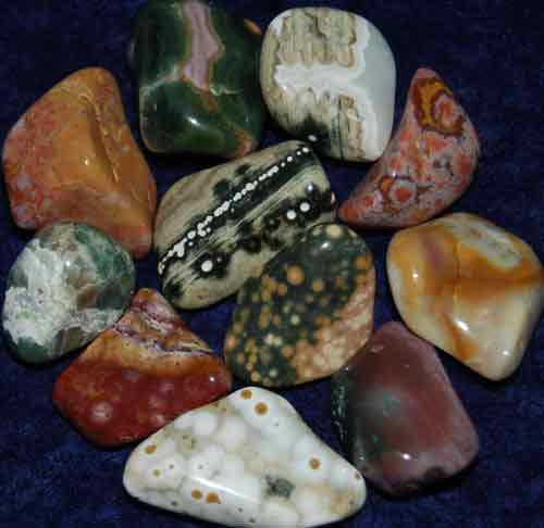 11 Ocean Jasper Tumbled Stones #4