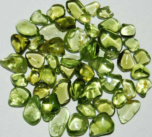 50 Peridot Tumbled Stones