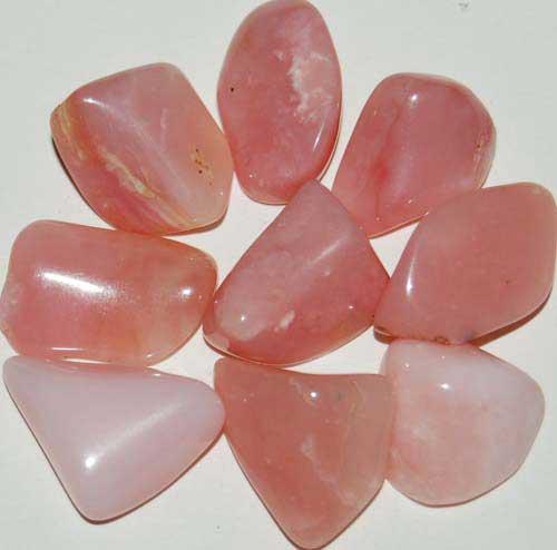 9 Peruvian Pink Opal (Grade AA) Tumbled Stones #3