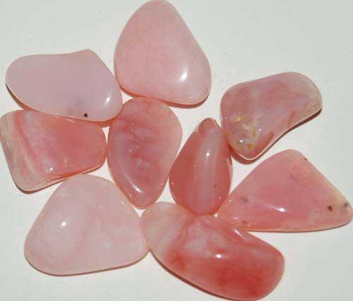 9 Peruvian Pink Opal (Grade AA) Tumbled Stones #5